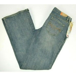 Mossimo Lowest Waist Boot Cut Blue Jeans